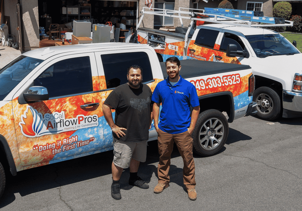 Owner SoCal Cody with HVAC for Heroes recipient