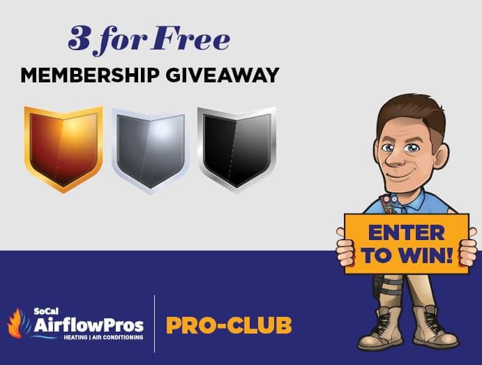 3 for free membership giveaway